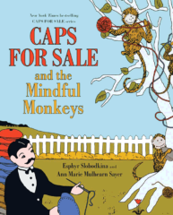 Book Cover Caps for Sale and the Mindful Monkeys