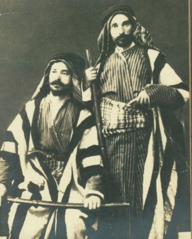Figure 2: Mr. Slobodkin and Karabajack the peddler, in happier times, dressed as Arabs c. 1914