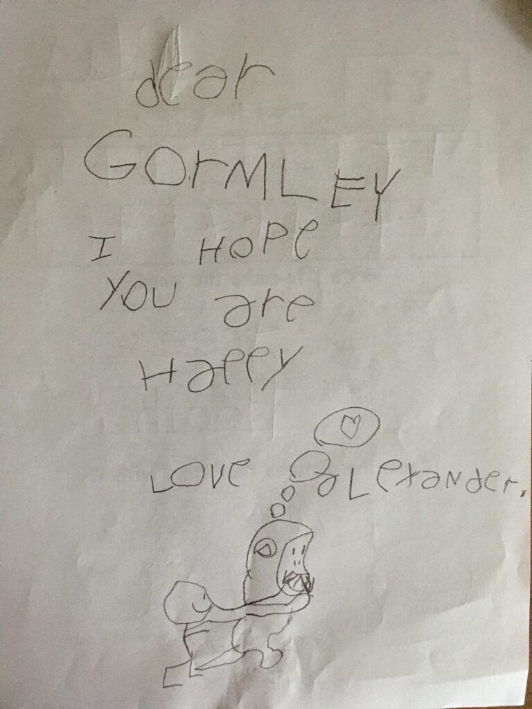 Letter from Alexander to Gormley