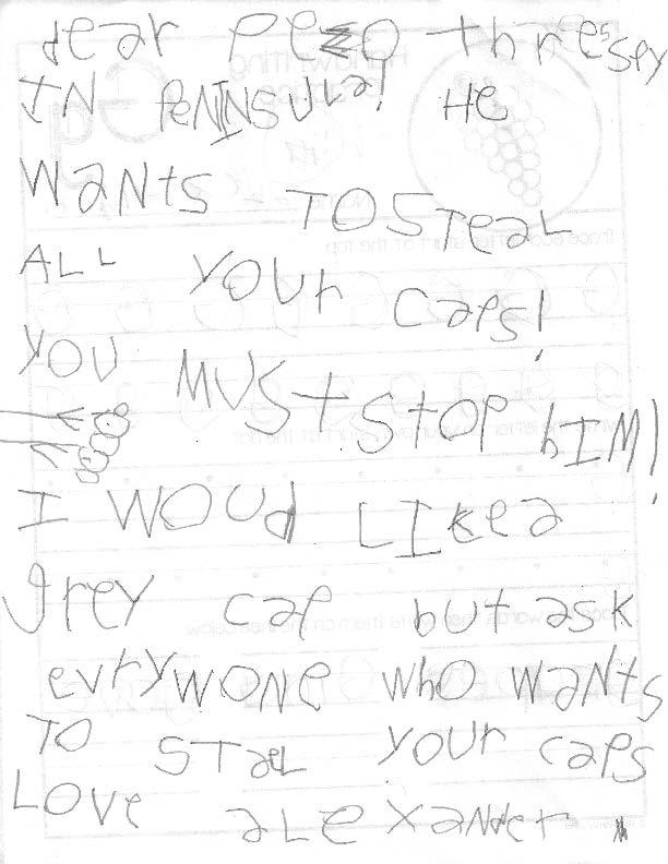 Letter from Alexander